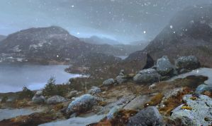 Let the snow fall by merl1ncz