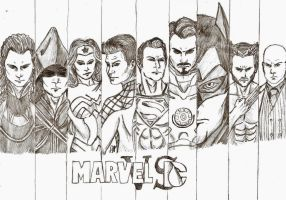 Marvel vs. DC by darkwolf2284