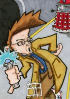 Doctor Who vs Dalek by 10th-letter