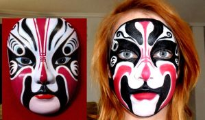 Chinnese mask make up by Arisusandasu