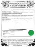 Free Companies - Petty Contract Form by ScaperDeage