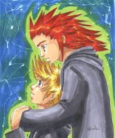 KH2- Roxas X Axel by Mmystery