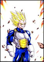 Ultra Saiyan Vegeta by Elyas11