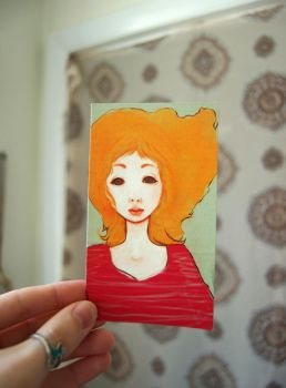 My Hair is a Ghost Small Print by flyk
