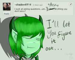 ASK ENVY! Answer #5 - She's Envy For a Reason by SoUr-MaNtIs