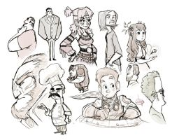 Random Sketches by LuigiL