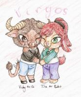 Ox and Rabbit Virgos by NamekAngelIvy