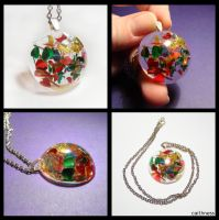 Glitter resin pendant by caithness-shop