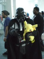 Vader and Pikachu by OPlover