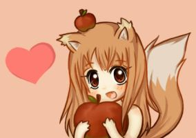 Horo apple time by Kerokie
