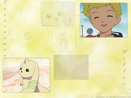 Willis + Terriermon Wallpaper by everskye
