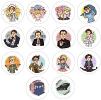 Button Designs - Set 1 by PotatoCrisp