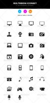 Multimedia Iconset by KL-Webmedia