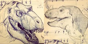 T-Rex Sketches by DrewTheWolf