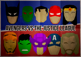 The Avengers VS The Justice League by skellerone
