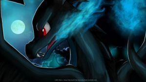 Mega Charizard X by RavenEvert