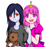 Princess Bubblegum x Marceline: Adventure Time~ by FeatherLetters