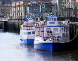 Boats on the Tyne by EcstaticDismay