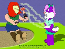 Fifi Scares Amy With Her Musk by KBAFourthtime