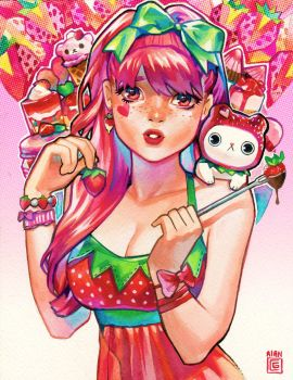Candy Girls: Strawberry by rianbowart