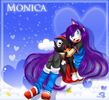 Monica The Hedgehog by zaameen