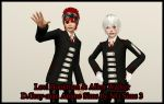 Allen Walker and Lavi Bookman in The Sims 3 by ng9