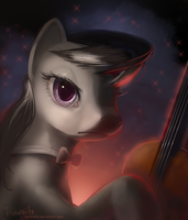 MLP FIM: Octavia Portrait by hinoraito