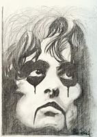 Drawing- Alice Cooper by OffCenterLucy
