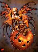 Fairy of Halloween Pumpkin by Candra