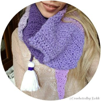 Cozy Triangle Scarf  by CrochetedbyBekk