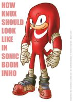 How Knuckles should look like in Sonic Boom by NekoAmine
