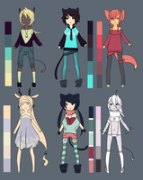Adoptables set 1 -closed- by hiamao