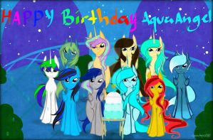 Gift: Happy Birthday AquaAngel by AquaAngel1010