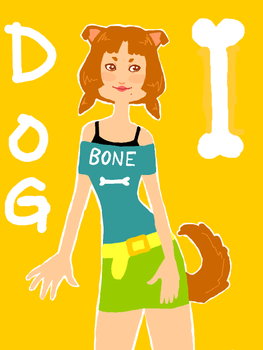 Dog-Girl -tegaki e- by tatsku