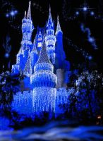 Castle Fantasy BKG 4 - blue by WDWParksGal-Stock