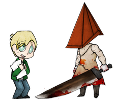 James and Pyramidhead by Maskums