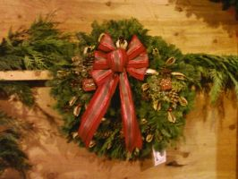 winter christmas wreath by Midnight--Comet