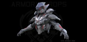 Forerunner combat skin concept WIP 2 by Dutch02