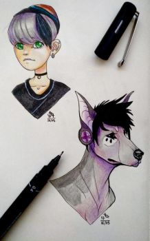 Colored busts by GreyM83