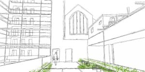 Baltimore Housing - Upper Courtyard 1 by Nayias01