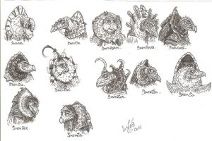 Cast- Skeksis, Canon and two O'C's by SkekLa