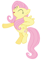 Fluttershy Bump-Chaa! Vector by Camsy34