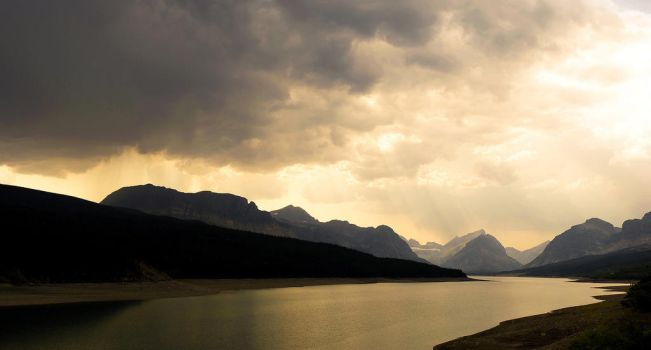 Road to Many Glacier  -  GNP by killersnowman