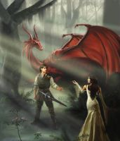 Richard, Kahlan, and Scarlet by Muffinina