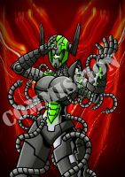 Zilteria defeated by Lady Ultron by Berty-J-A