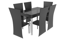Dining Room Table 3D Model by TexasFunk101