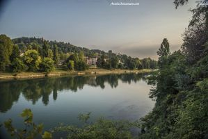 Po river by Aneede