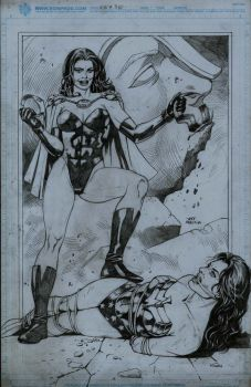 Super Woman and Wonder Woman by thepunisherone