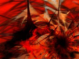 Red Abstract by kaiyul