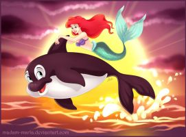 Ariel and Spot by madam-marla